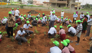 Afforestation activity carried out to create awareness among students 