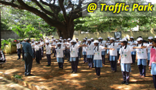 Traffic safety awareness camp for school students